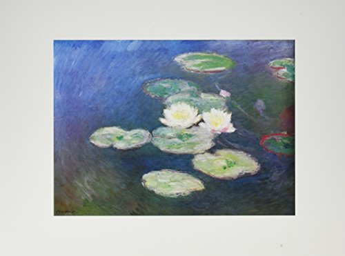 Affiche 30x40 cm Nymphéas, effet du soir (détail) / Water Lilies, Effects at the Evening / Seerosen, Abendwirkung Claude MONET (1840-1926) de NOUVELLES IMAGES