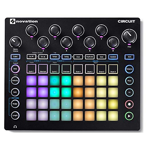 Novation Circuit Groove Box avec Synthé, Drum machine et Séquenceur de Novation