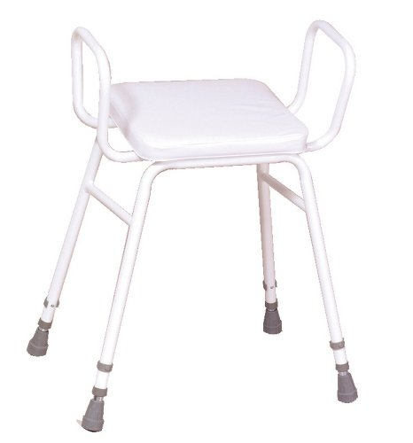 Malvern Adjustable Height Perching Stool with Armrests de NRS Healthcare
