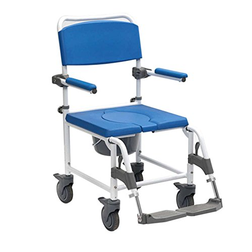 NRS Healthcare Chaise de Douche Garde-robe Adaptable à Pousser de NRS Healthcare