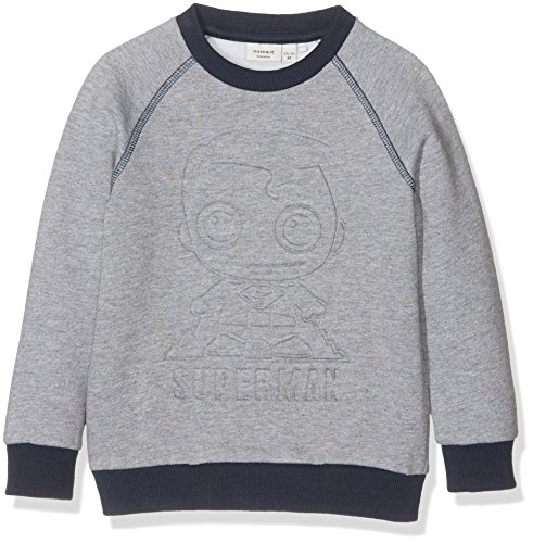 NAME IT NITSUPERHERO REX SWE TOP BRU MZ WAB, Sweat-Shirt Garçon, Multicolore (Grey Melange), 98 de Name It