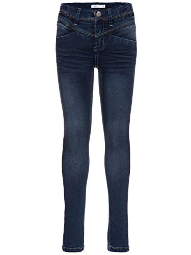 Name It nitSUS INDIGO K SKINNY DNM PANT NOOS, Jeans Fille, Bleu (Dark Blue Denim), 140 de Name It