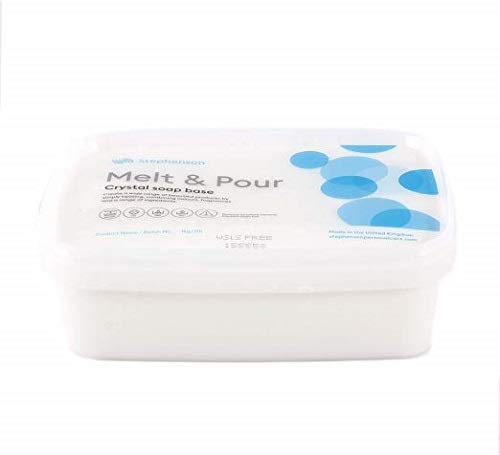 Melt And Pour Base de savon Transparent Sans Laureth sulfate de sodium 1 Kg de Nasstoys