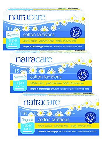 Lot de 3 serviettes en coton bio Natracare Tampons Applicateur Super de Natracare