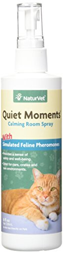 NaturVet FELINE QUIET MOMENTS HERBAL CALMING SPRAY Stress Relief for Cats 236 ml de NaturVet