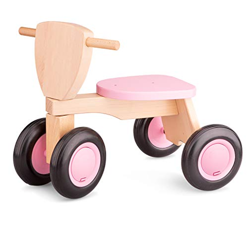 New Classic Toys - 11422 - Tricycle - Bois De Hêtre - Road Star - Rose de New Classic Toys