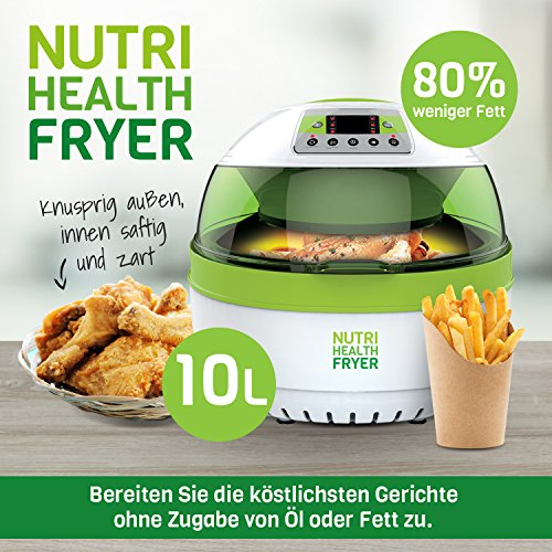 Nutrition Healthy Fryer Friteuse à air chaud 10 L de Nutrition Healthy Fryer