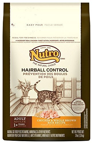 Natural Choice Indoor Adult Cat Chicken and Whole Brown Rice Formula Food, 3-Pound by The Nutro Company (English manual) de Nutro