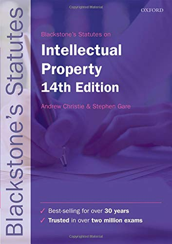 Blackstone's Statutes on Intellectual Property de OUP Oxford