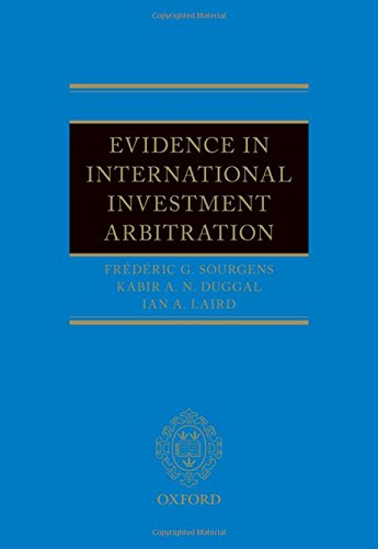 Evidence in International Investment Arbitration de OUP Oxford