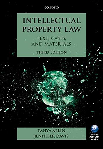Intellectual Property Law: Text, Cases, and Materials de OUP Oxford