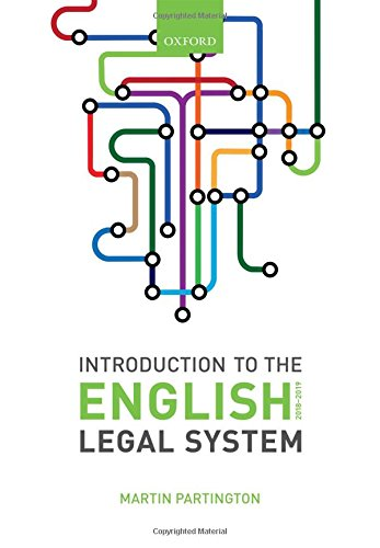 Introduction to the English Legal System 2018-19 de OUP Oxford