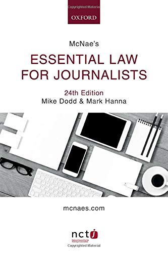 McNae's Essential Law for Journalists de OUP Oxford
