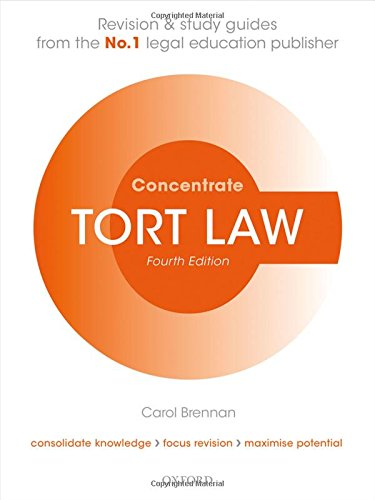 Tort Law Concentrate: Law Revision and Study Guide de OUP Oxford