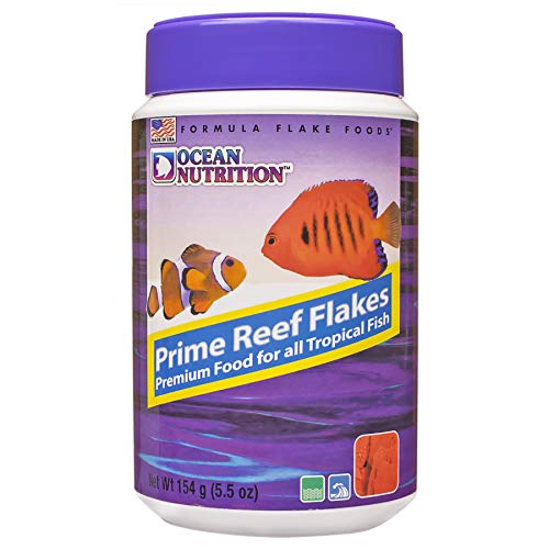 Ocean Nutrition Prime Reef Flake Natural Blend Raw Seafood Protein Staple 5.5 oz de Ocean Nutrition