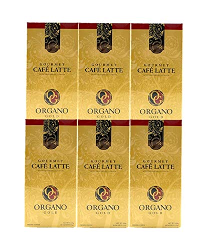 6 BOXES ORGANO GOLD GOURMET CAFE LATTE de Organo Gold