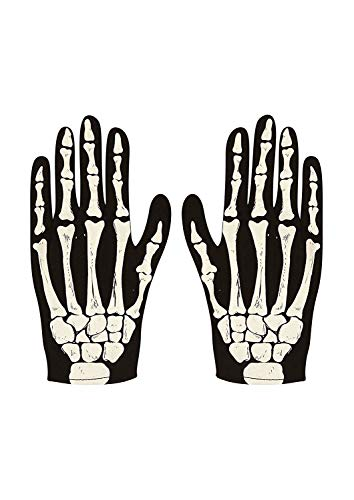 Ladies Party Gloves Skeleton Adult Size for Fancy Dress Accessory by SAR-Holdings Limited de PAMS