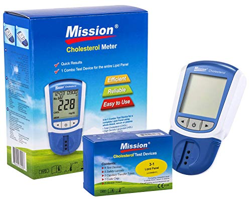 Mission 3 en 1 - Indicateur Cholesterol, LDL, HDL et Triglycérides + 5 Dispositifs de Test de Mission 3 in 1