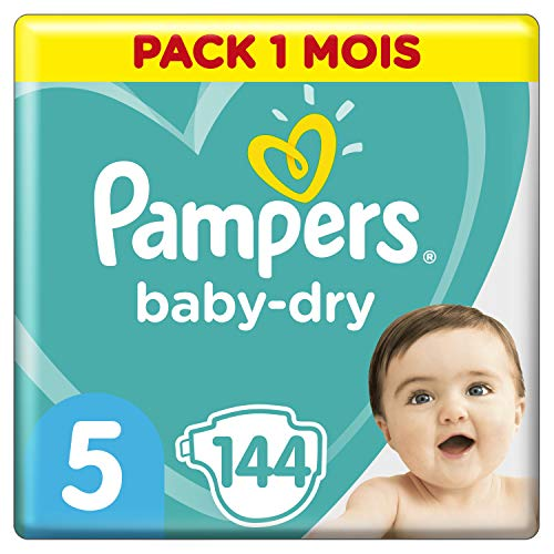 Pampers - Baby Dry - Couches Taille 5 (11-16 kg) - Pack 1 mois (x144 couches) de Pampers