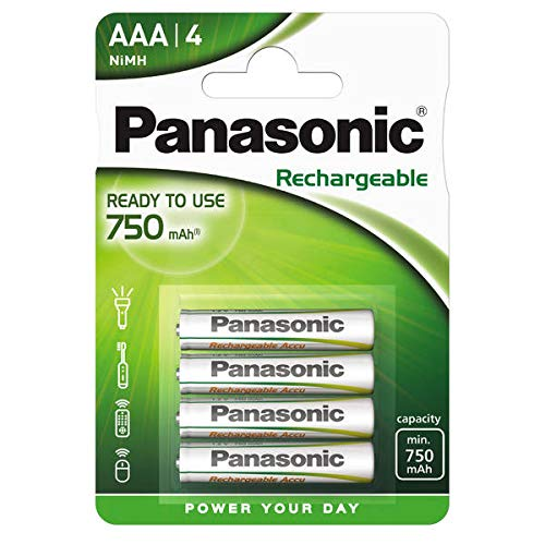 Panasonic Evolta Piles rechargeable AAA 750 mAh Multicolore de Panasonic