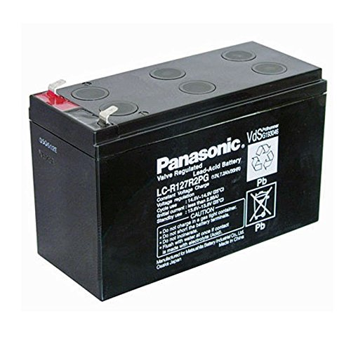 """Panasonic PAN-LCR-12 - batteries rechargeables (7200 mAh, 12 V, Noir, 2,5 kg, 64,5 x 151 x 100 mm)"" de Panasonic"