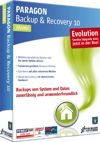 Paragon Backup & Recovery 10 Home Evolution de Paragon Technologie GmbH