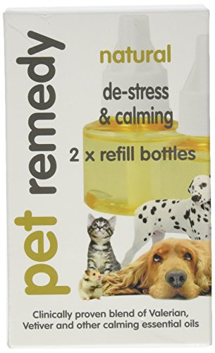 Pet Remedy Animal domestique Remède naturel Relaxation et calmant recharge Lot, 40 ml, Lot de 2 de Pet Remedy