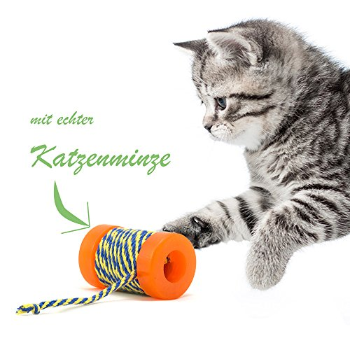 Petstages Orkacat Catnip Infused Spool With String by Petstages (English manual) de Petstages