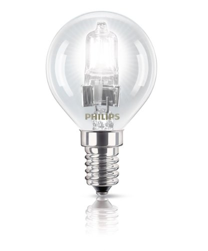 Philips Ampoule EcoHalogène Sphérique Culot E14 42 Watts consommés Equivalence incandescence : 55W de Philips Lighting