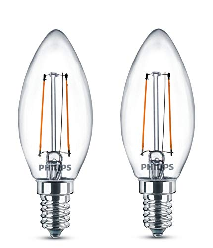 Philips Ampoule LED Classic 25W B35 E14 WW CL ND 2BC/6 de Philips Lighting