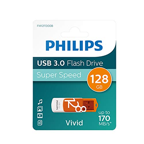 Philips Pendrive USB 3.0 128 GB - Vivid Edition (Orange) de Philips