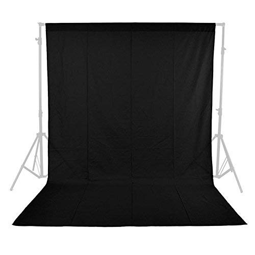 Phot-R  3m x 3m Photo Studio Non-Woven Backdrop Background - Black de Phot-R