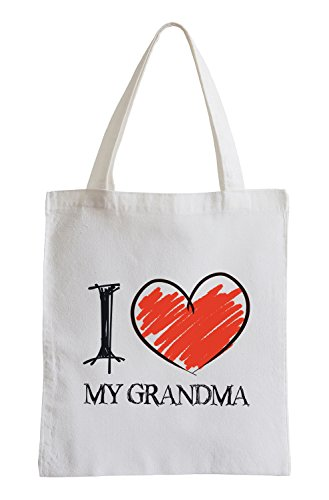 I Love ma Grand-mère Fun Sac de Jute de Pixxprint