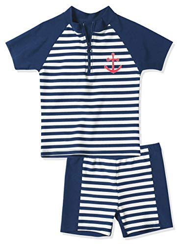 Playshoes - Boxer Garçon Boy's Swim Shirt and Swim Shorts - Bleu (900 Original ) - 10 ans de Playshoes