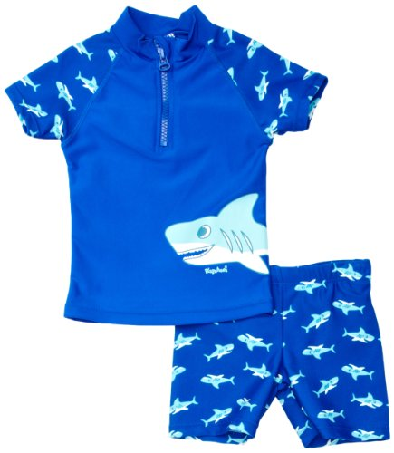 Playshoes - Maillot de bain de sport Garçon Sun Protection 2 Piece Swimsuit Shark - Bleu (Original) - 86/92 de Playshoes