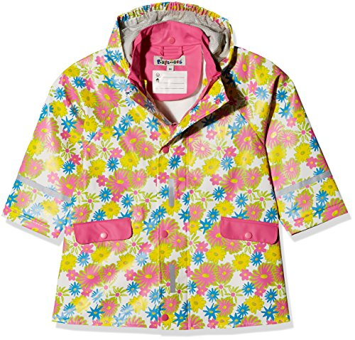 """Playshoes Regenjacke Blumendruck, Manteau Imperméable Fille, Multicolore (weiß), 140"" de Playshoes"
