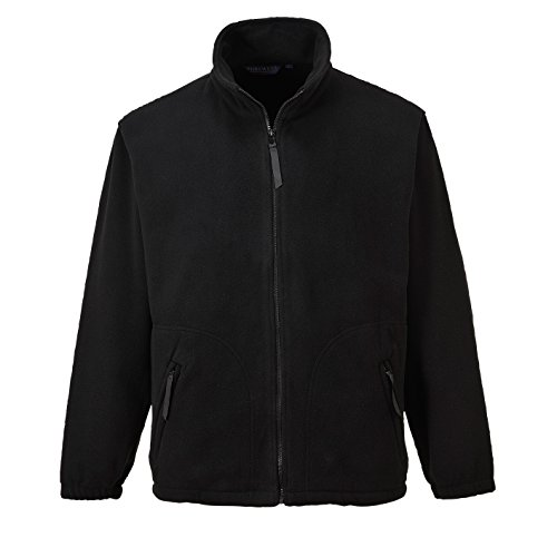 Portwest Heavy Fleece Jacket Polyester Zipped-pockets Extra Large Black Ref F400BLKXLGE de Portwest