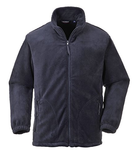 Portwest Heavy Fleece Jacket Polyester Zipped-pockets Large Navy Ref F400NAVYLGE de Portwest