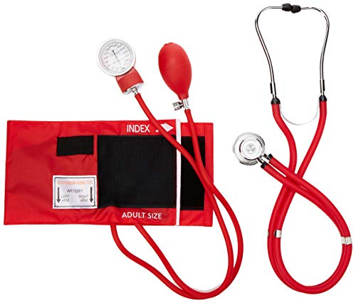 Primacare Medical Supplies DS-9181 Kit de pression sanguine professionnel avec stéthoscope Sprague Rappaport Rouge de Primacare Medical Supplies