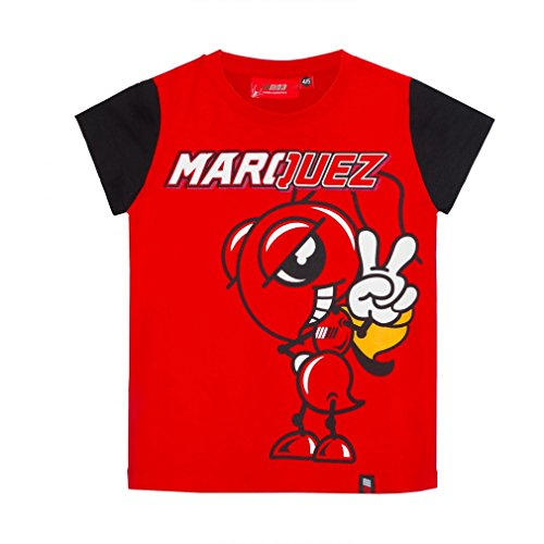 Pritelli 1833026/10 - 11 Marc Marquez 93 Moto GP Large Ant Enfants T-Shirt Officiel 2018, Rouge de Pritelli