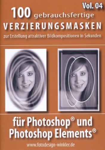 100 Verzierungsmasken für Photoshop Vol. 4 [import allemand] de FotoDesign Winkler