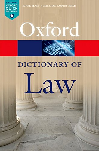 A Dictionary of Law de OUP Oxford