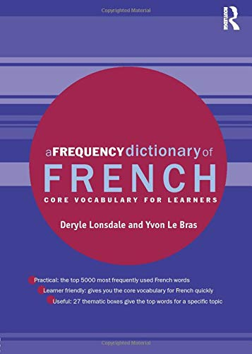 A Frequency Dictionary of French de Routledge