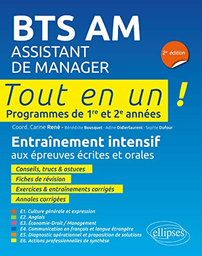 Bts Am Assistant Manager 2e Édition Programmes de 1re et 2e Annees de Ellipses Market