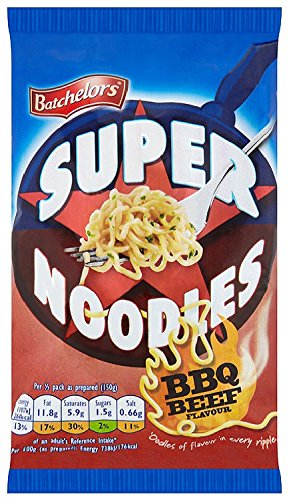 Batchelors Super Noodles Barbecue Beef Flavour 100 g (Pack of 16) de Batchelors