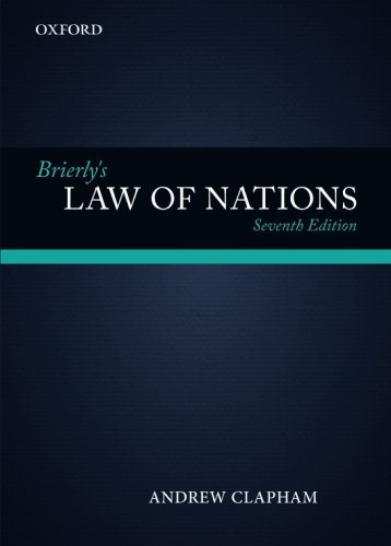 Brierly's Law of Nations: An Introduction to the Role of International Law in International Relations de Oxford University Press, USA