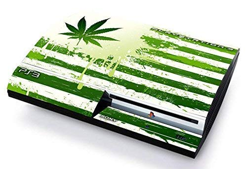 CANNABIS FLAG BANDIERA Skin Cover PS3 FAT HD limited edition DECAL COVER ADESIVA STICKER Playstation 3
