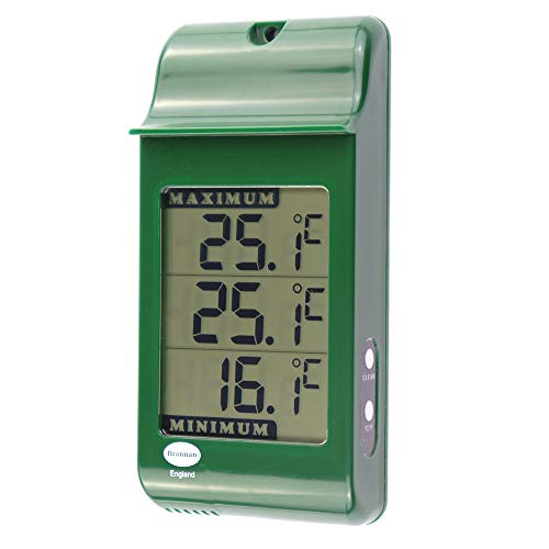 Digital Max Min Growroom Or Greenhouse Thermometer - Green by Brannan