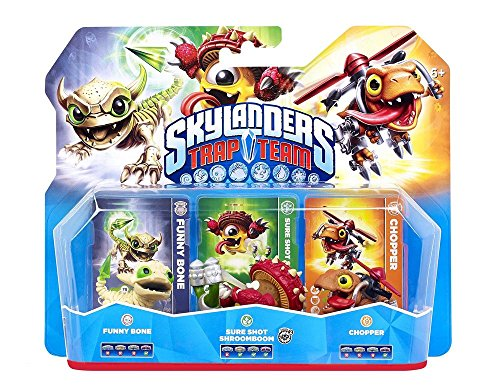 Figurine Skylanders : Trap Team - Chopper + Funny Bone + Shroomboom de Disney