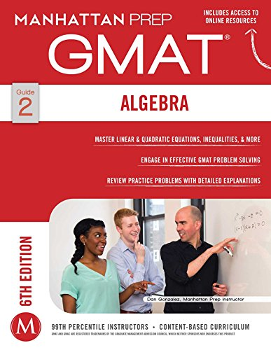 GMAT Algebra Strategy Guide de Manhattan Prep Publishing